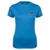 Ladies Syntrel Performance Light Blue Tee-Primary Mark