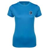 Ladies Syntrel Performance Light Blue Tee-Monarchs Shield