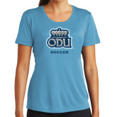 Ladies Syntrel Performance Light Blue Tee-Soccer