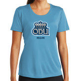 Ladies Syntrel Performance Light Blue Tee-Mom