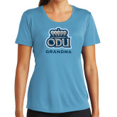 Ladies Syntrel Performance Light Blue Tee-Grandma