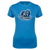 Ladies Syntrel Performance Light Blue Tee-Primary Mark