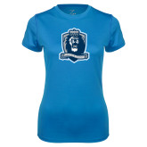 Ladies Syntrel Performance Light Blue Tee-Monarchs Shield