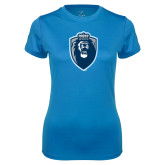 Ladies Syntrel Performance Light Blue Tee-Lion Shield