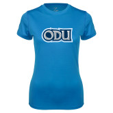 Ladies Syntrel Performance Light Blue Tee-ODU
