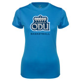 Ladies Syntrel Performance Light Blue Tee-Basketball