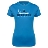 Ladies Syntrel Performance Light Blue Tee-Football Field