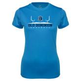 Ladies Syntrel Performance Light Blue Tee-Football Field