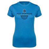 Ladies Syntrel Performance Light Blue Tee-Basketball Net