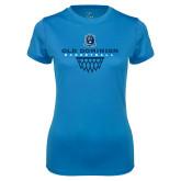 Ladies Syntrel Performance Light Blue Tee-Basketball Net