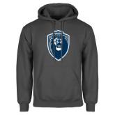 Charcoal Fleece Hoodie-Lion Shield