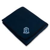 Navy Arctic Fleece Blanket-Monarchs Shield