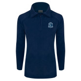 Columbia Ladies Half Zip Navy Fleece Jacket-Monarchs Shield