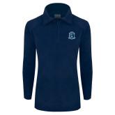 Columbia Ladies Half Zip Navy Fleece Jacket-Monarchs Shield