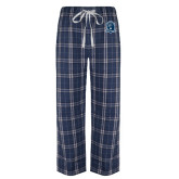 Navy/White Flannel Pajama Pant-Monarchs Shield