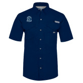 Columbia Bonehead Navy Short Sleeve Shirt-Monarchs Shield