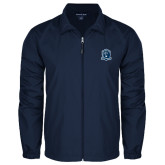 Full Zip Navy Wind Jacket-Monarchs Shield