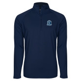 Sport Wick Stretch Navy 1/2 Zip Pullover-Monarchs Shield