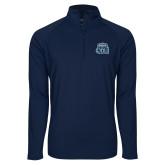 Sport Wick Stretch Navy 1/2 Zip Pullover-ODU w Crown
