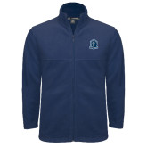 Fleece Full Zip Navy Jacket-Monarchs Shield
