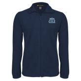 Fleece Full Zip Navy Jacket-ODU w Crown