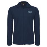 Fleece Full Zip Navy Jacket-Old Dominion University