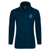 Ladies Fleece Full Zip Navy Jacket-Monarchs Shield