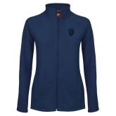 Ladies Fleece Full Zip Navy Jacket-Lion Shield