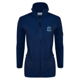 Columbia Ladies Full Zip Navy Fleece Jacket-Monarchs Shield
