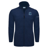 Columbia Full Zip Navy Fleece Jacket-Monarchs Shield