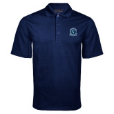 Navy Mini Stripe Polo-Monarchs Shield