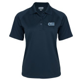 Ladies Navy Textured Saddle Shoulder Polo-ODU