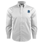 Red House White Long Sleeve Shirt-Monarchs Shield
