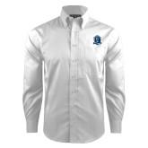 Red House White Dobby Long Sleeve Shirt-Monarchs Shield