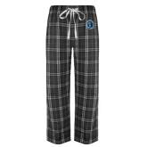 Black/Grey Flannel Pajama Pant-Monarchs Shield