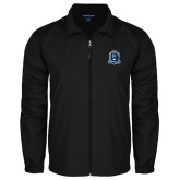 Full Zip Black Wind Jacket-Monarchs Shield