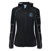 Columbia Ladies Sweet As Black Hooded Jacket-Monarchs Shield