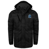 Black Brushstroke Print Insulated Jacket-Monarchs Shield