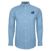 Mens Light Blue Oxford Long Sleeve Shirt-Primary Mark