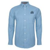 Mens Light Blue Oxford Long Sleeve Shirt-ODU w Crown