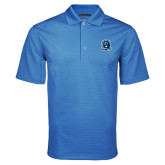 Light Blue Mini Stripe Polo-Monarchs Shield