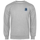 Grey Fleece Crew-Monarchs Shield