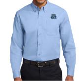 Light Blue Twill Button Down Long Sleeve-ODU w Crown