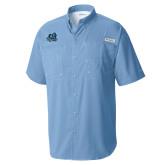 Columbia Tamiami Performance Light Blue Short Sleeve Shirt-Primary Mark
