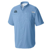 Columbia Tamiami Performance Light Blue Short Sleeve Shirt-ODU w Crown