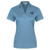 Ladies Light Blue Performance Fine Jacquard Polo-Primary Mark