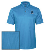 Light Blue Performance Fine Jacquard Polo-Monarchs Shield