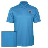 Light Blue Performance Fine Jacquard Polo-ODU w Crown