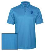 Light Blue Performance Fine Jacquard Polo-Lion Shield