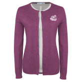 Ladies Deep Berry Cardigan-Primary Mark